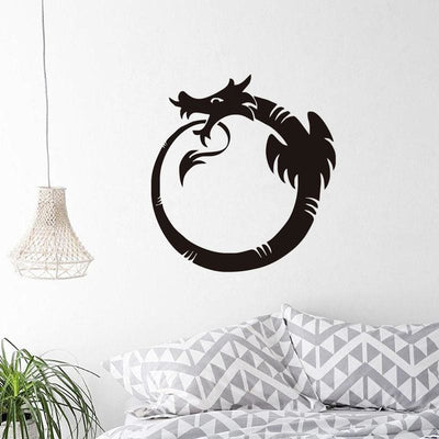 Sticker Mural Dragon Ouroboros 29 x 31 | Dragonance