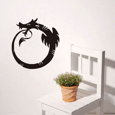 Sticker Mural Dragon Ouroboros | Dragonance