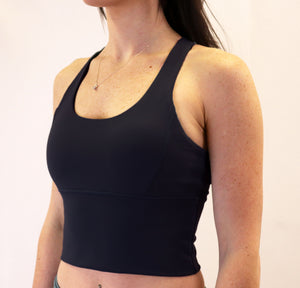 The Aspire Bra - jet black