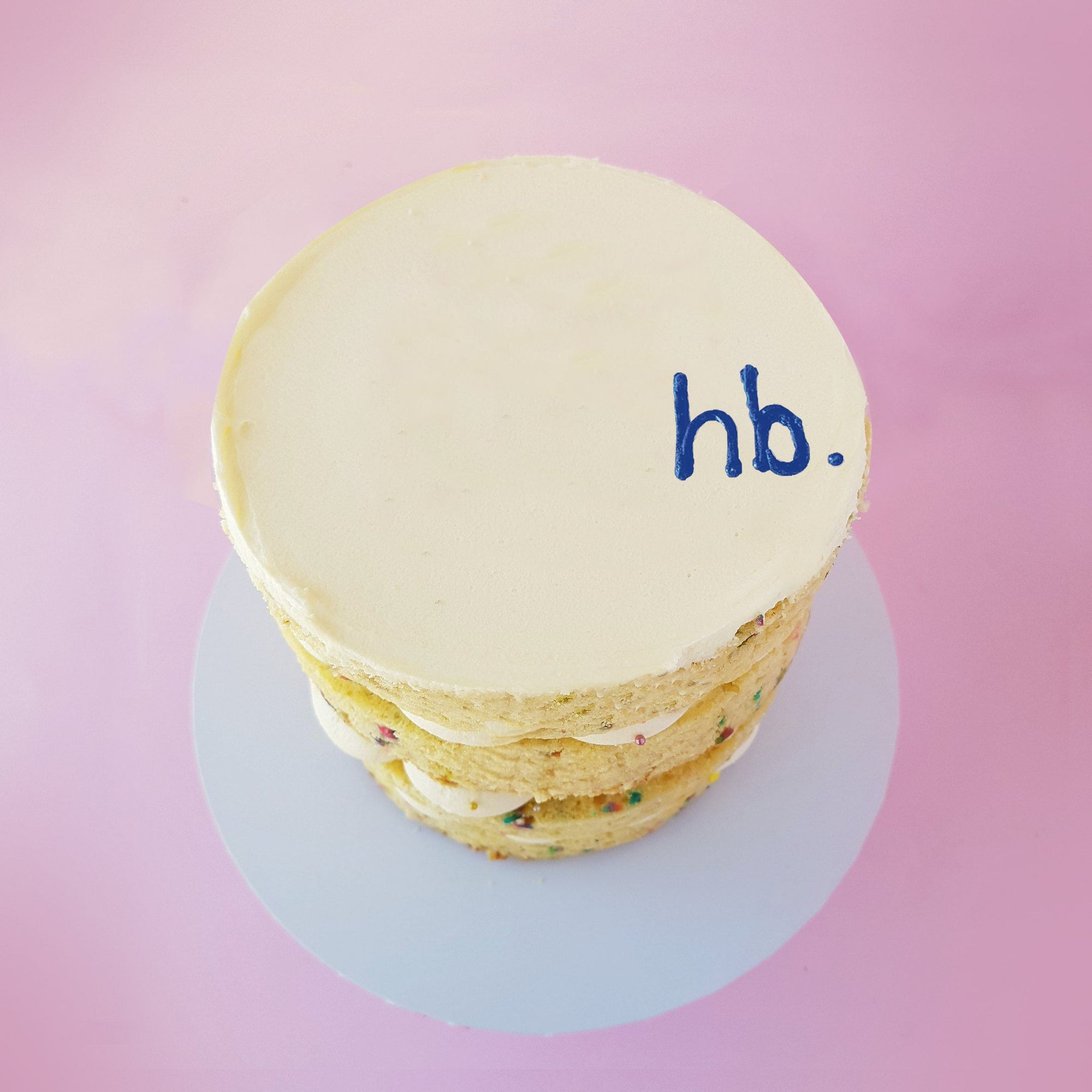 Message Greeting Cake