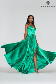 Sara's Fashion Green, Floor-Length maxi for Bridesmaid, Formal and grad occasion .