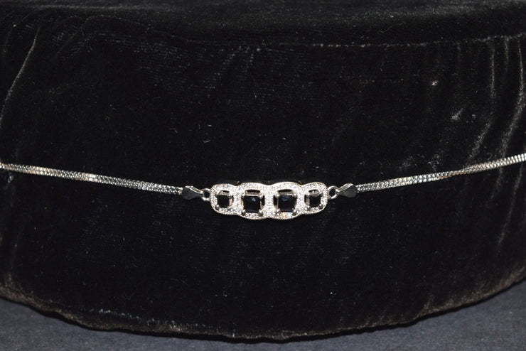 Sara's Fashion real Silver Diamonds bracelet