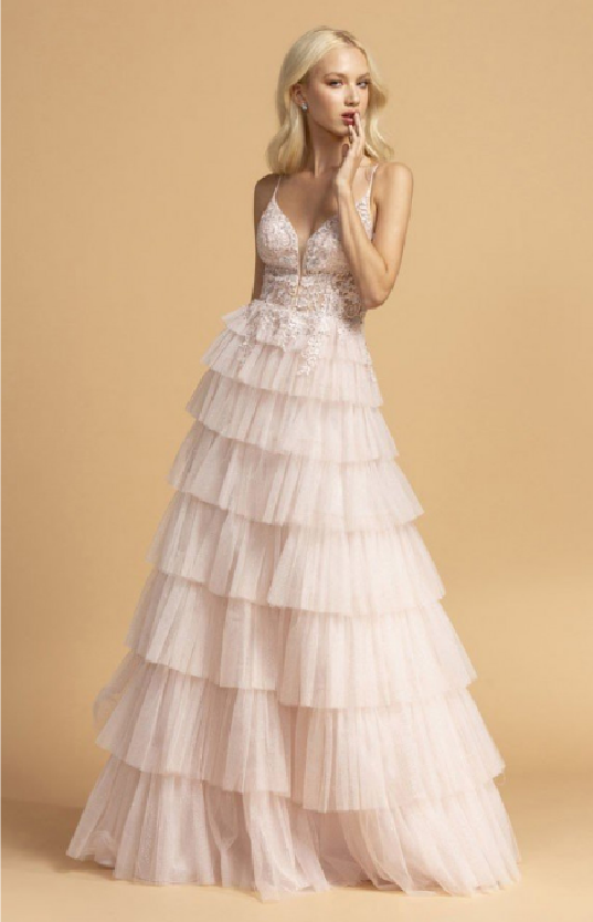 blush Floor size Ruffle Skirt Design
