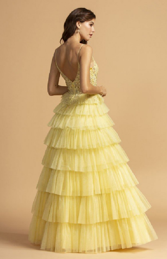 Lemon Floor size Ruffle Skirt Design