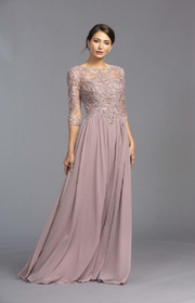Mauve Gown with sleeves in Edmonton