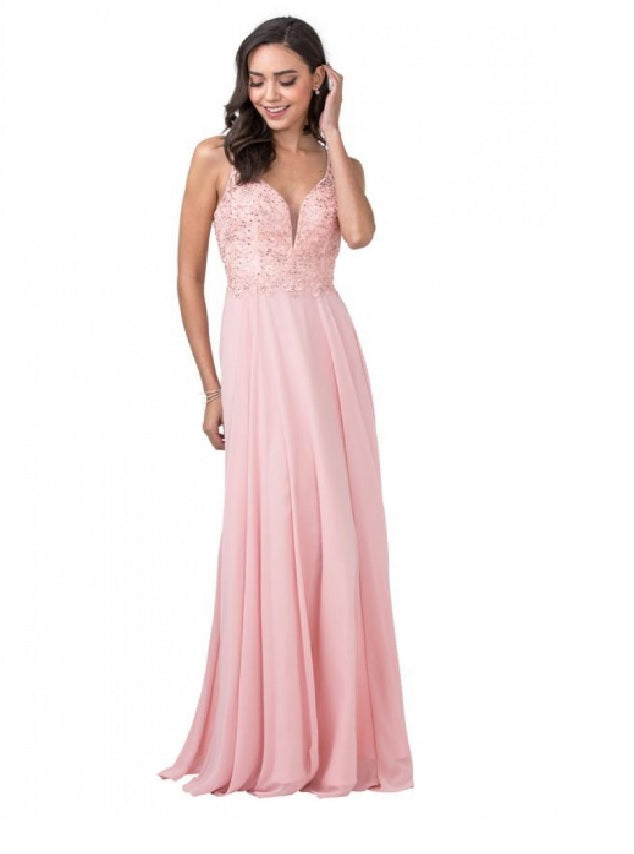 Blush color Gown for Bridesmaid