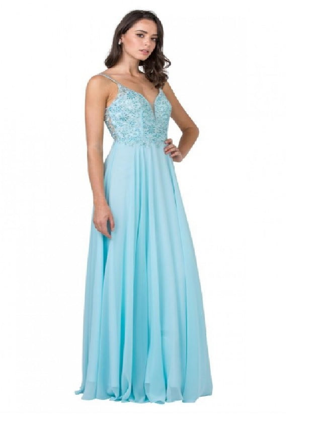 Ice-Blue Beautiful Maxi for Formal and Grad
