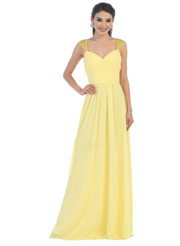 Yellow Floor-Length Maxi for Grad in Edmonton