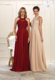 Beautiful Halter Neck long Gown for Prom, Grad and Mother of Bride