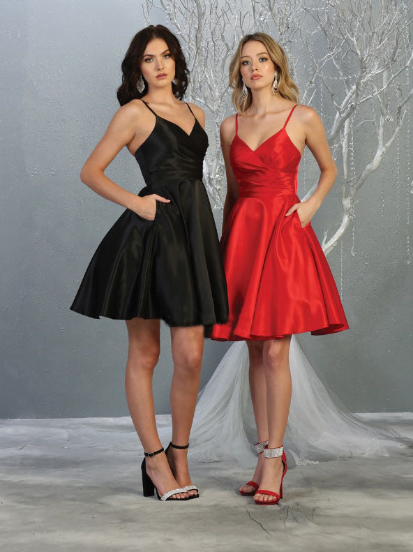 Sara's Fashion A-Line, Short, Sleeve less, Bridesmaid Wedding Dress in Canada