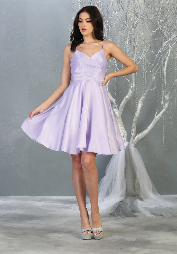 Sara's Fashion A-Line, Short, Sleeve less, Bridesmaid Wedding Dress