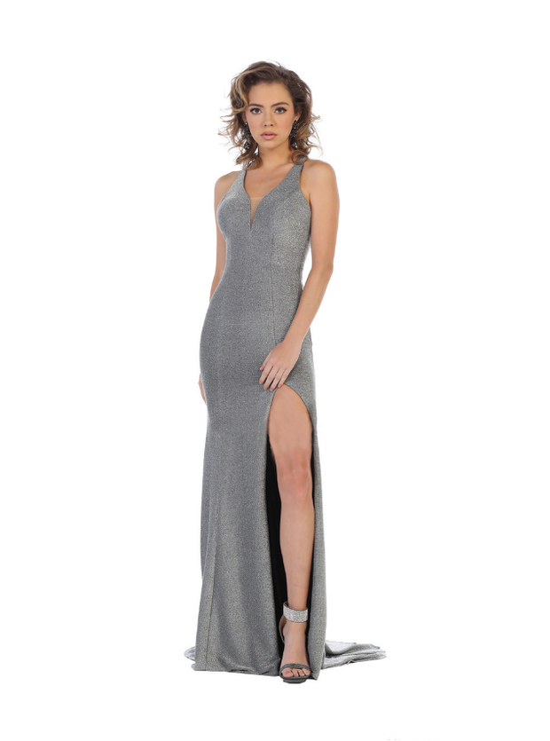 Sara's Fashion Side Slit Long Gown for Prom and Grad In Canada