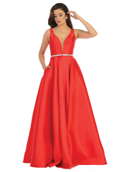 Sara's Fashion A-Line, V-Neck, Red Wedding Gown In Canada