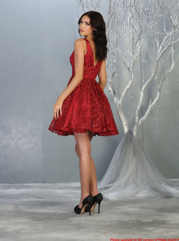 red flowy glittery sequin dress for grad