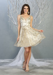 grad flowy glittery sequin dress