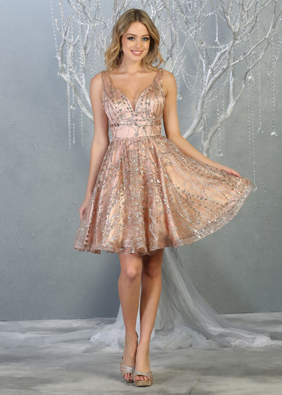 flowy glittery sequin dress for grad