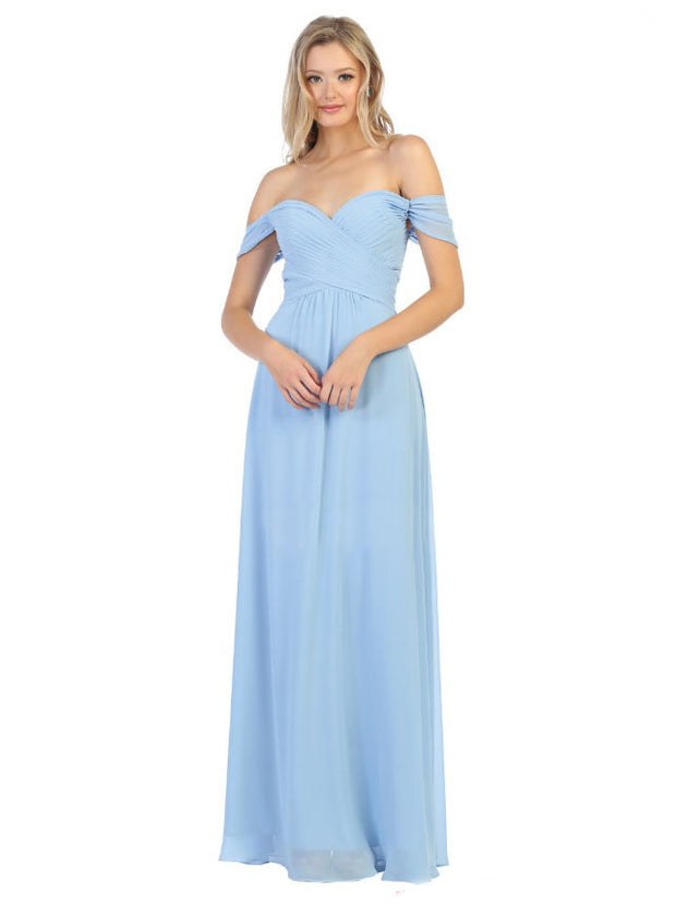 Sara's Fashion A-Line, Off-the-Shoulder Long Size Maxi For Mother of Bride, Bridesmaid, Grad and Prom In Canada