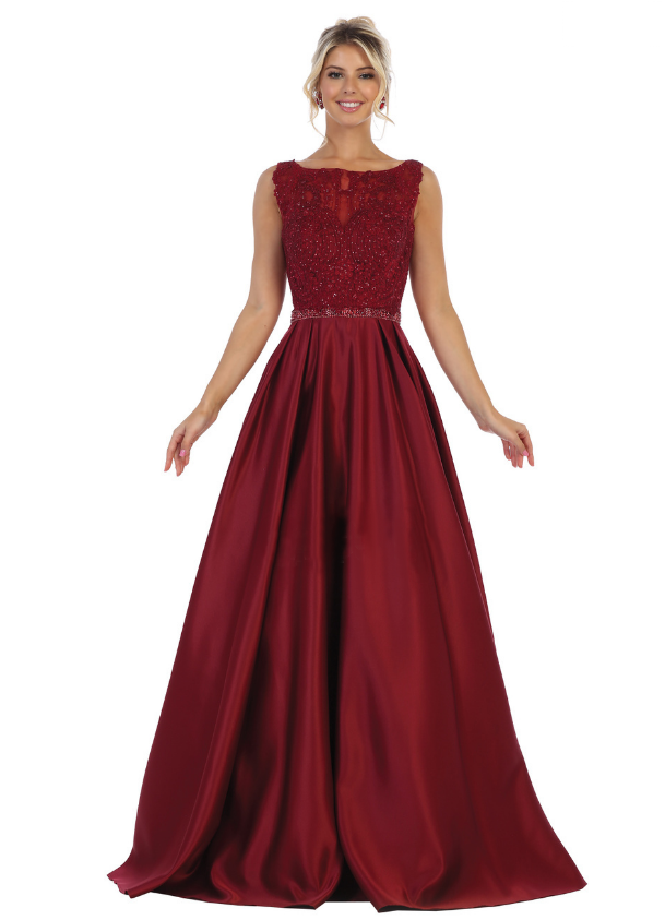 Long Party bridesmaid dress Red - by Sara's Fashion