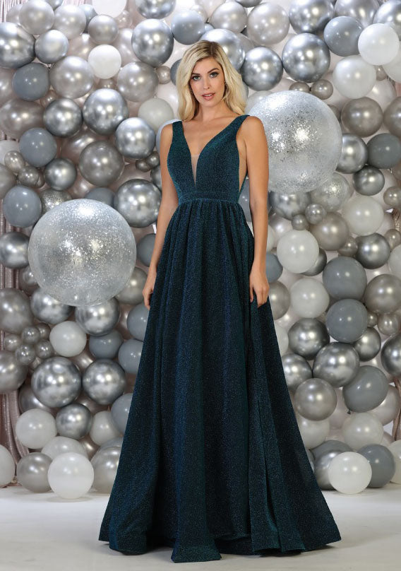 Iridescent Ball Gown for graduation in edmonton - teal color