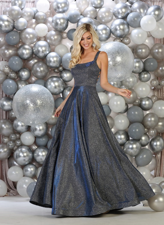 One shoulder a-line prom gown - Sara's Fashion