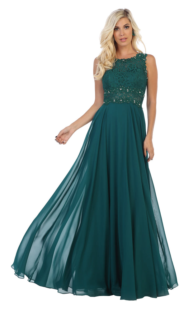 Beautiful hunter green long size gown for wedding