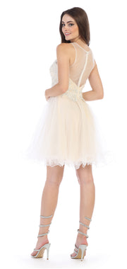 Sara's Fashion Short Back Zipper Bridal Dress In canada