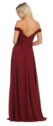 Sara's Fashion Off Shoulder Floor-size maxi for prom Grad and Bridesmaid in Edmonton