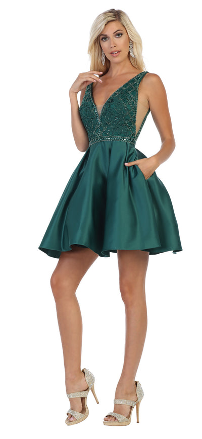 Sara's Fashion Short A-line formal dress