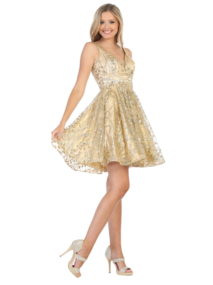flowy glittery sequin dress for prom
