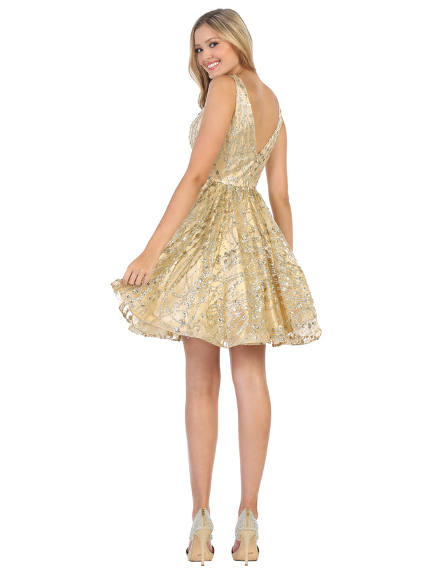 formal flowy glittery sequin dress
