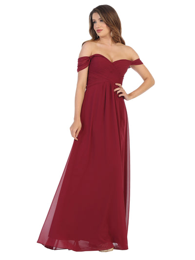 Sara's Fashion  Off-the-Shoulder Long Size Maxi For Mother of Bride, Bridesmaid, Grad and Prom In East Edmonton
