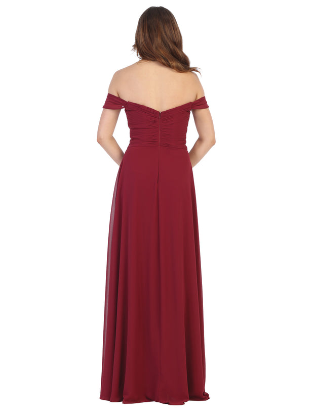 Sara's Fashion Open Back Maxi For Mother of Bride, Bridesmaid, Grad and Prom In East Edmonton Mall.