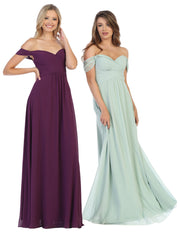 Sara's Fashion A-Line, Off-the-Shoulder Long Size Maxi For Bridesmaid In Edmonton