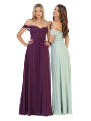 Sara's Fashion A-Line, Off-the-Shoulder Long Size Maxi For Mother of Bride In Canada