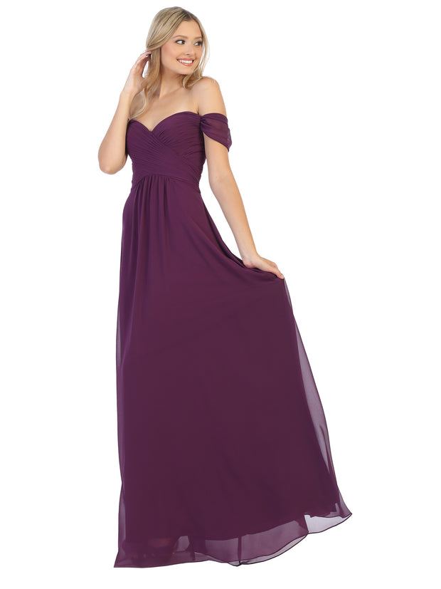 Sara's Fashion A-Line, Off-the-Shoulder Long Size Maxi For Prom In Edmonton