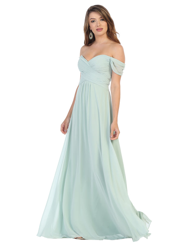 Sara's Fashion A-Line, Off-the-Shoulder Maxi for  Grad In Edmonton