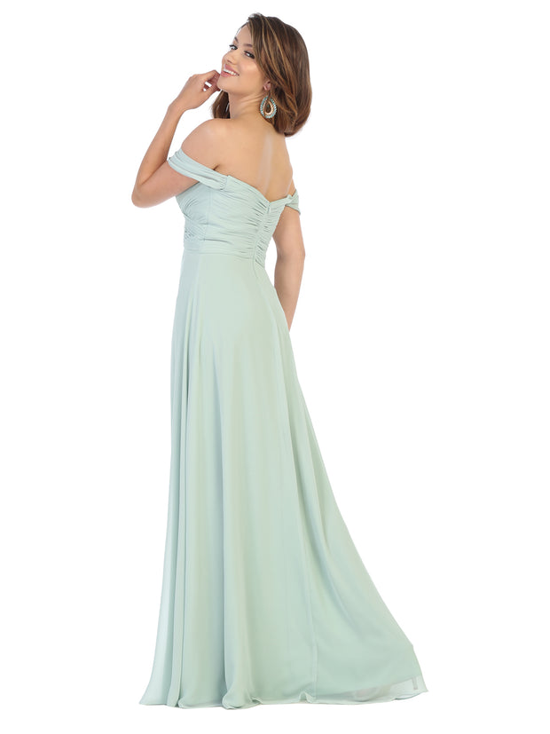 Sara's Fashion A-Line, Off-the-Shoulder Long Size Maxi For Grad  In Edmonton