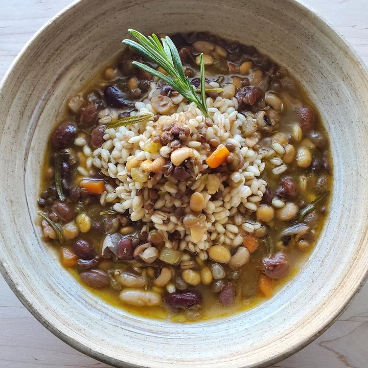 Zuppa Di Fagioli - Bean, Barley & [OPTIONAL PANCETTA] Soup- Frozen