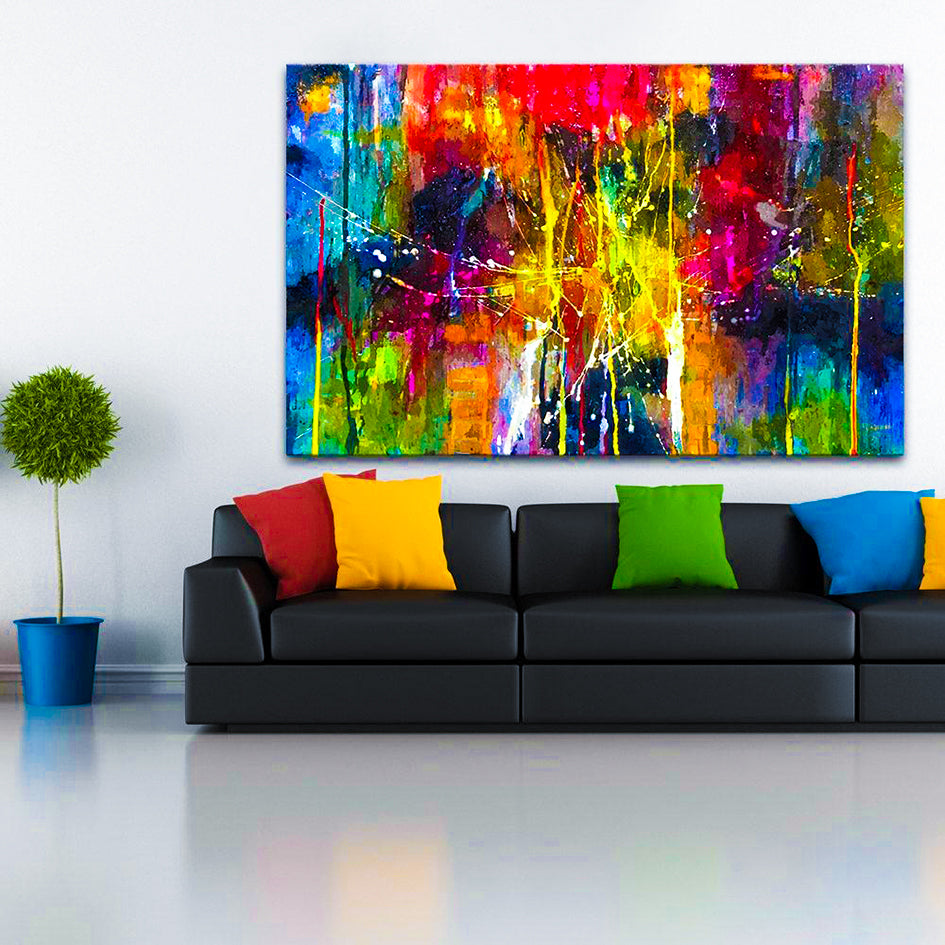 Abstract Painting Colorful Canvas Wall Pictures