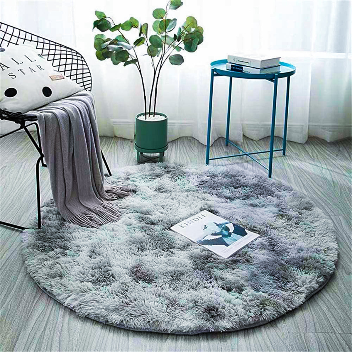 Fluffy Round Carpet