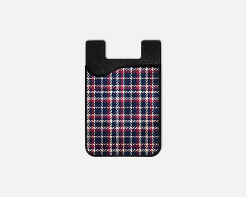 Grandpa's Plaid Phone Card Caddy
