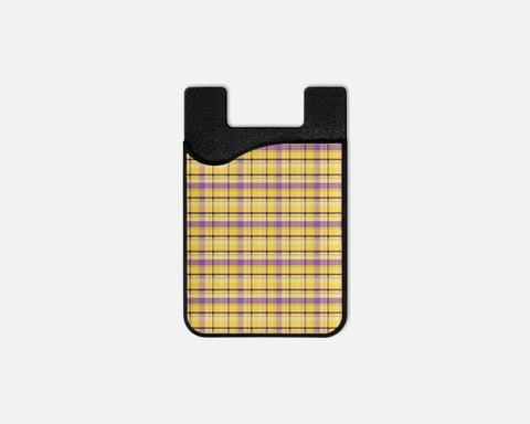 Halloween Ki. Plaid Phone Card Caddy