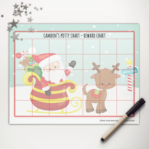 Santa + Rudolph Printable Potty Reward Chart