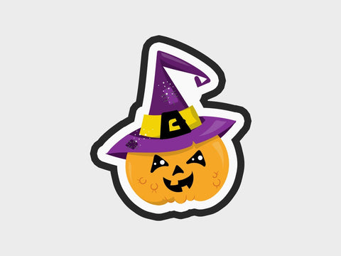 Spooky Pumpkin Witch Cutter | Spooky Pumpkins Volume 1 Cutter