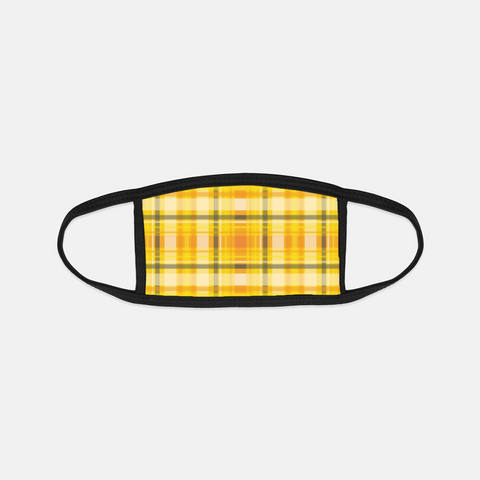 Fall Farm Truck Plaid Black Edge Face Cover