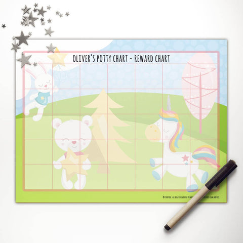 Dreamy Unicorn + Friends Printable Potty Reward Chart