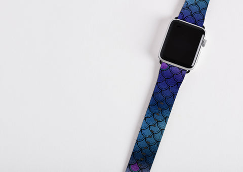 Ocean Mermaid Scales  Apple Watch Band
