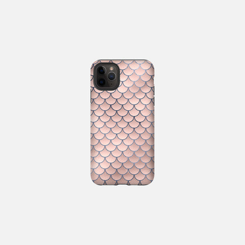Blush + Navy Foiled Mermaid Scales Tough Case