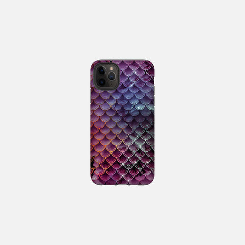 Sangria Glittered Mermaid Scales Tough Case
