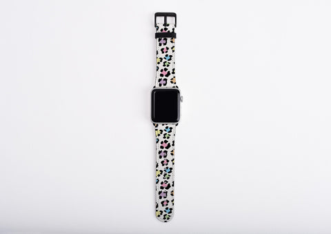 Pastel Snow Leopard Print  Apple Watch Band